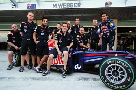 Mark Webber corrió los cuatro últimos Grandes Premios con el hombro lesionado