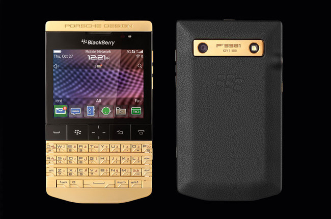 Porsche Design BlackBerry P'9981 Gold