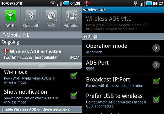 Wireless ADB