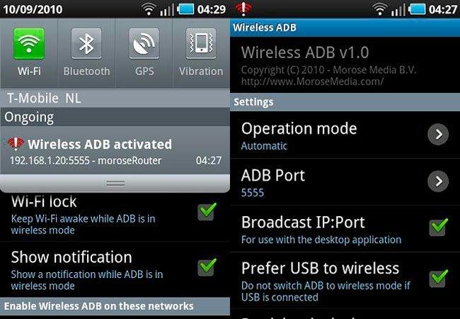 Wireless ADB
