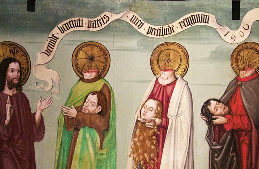 fd4d22ee7a Como la pintura ha mostrado la fascinante historia de los cefalóforos, los  santos decapitados