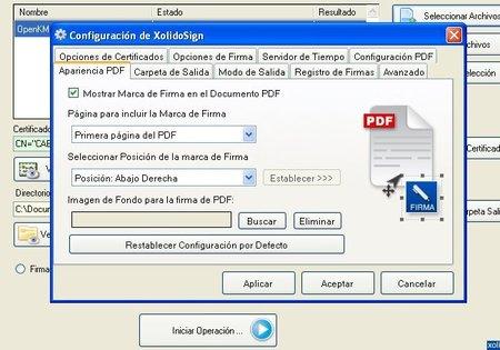 Configuración XolidoSing