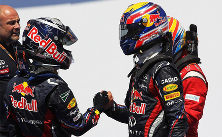Sebastian Vettel estaría contento si Mark Webber se queda en Red Bull