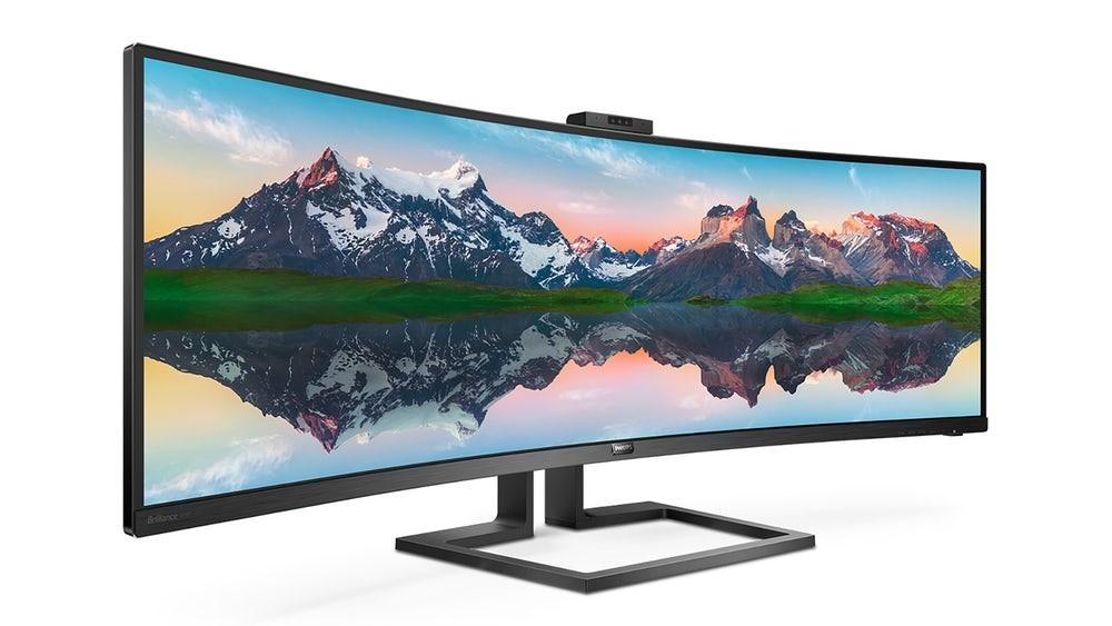 Philips presenta su nuevo monitor gigante de 49 pulgadas que llega con cámara integrada para Windows Hello