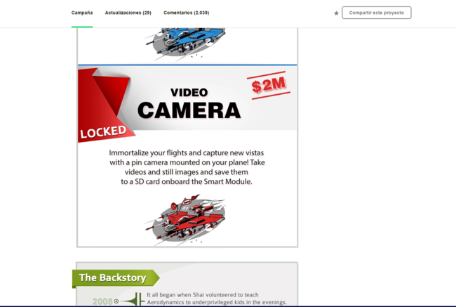 Kickstarter Video Camara Locked