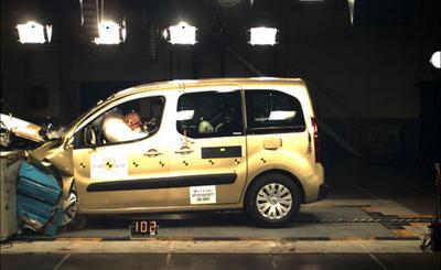 Últimos resultados EuroNCAP: Citroën Berlingo, Volkswagen T5 y Ford Kuga
