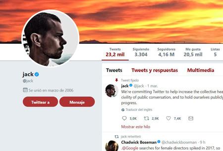 Jack Dorsey Twitter Cuenta Verificada