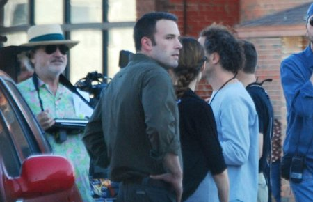 Malick y Affleck durante el rodaje de To The Wonder