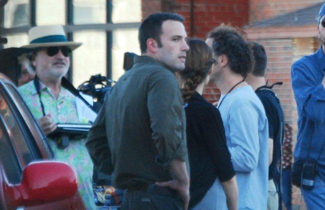Malick y Affleck durante el rodaje de To The Wonder
