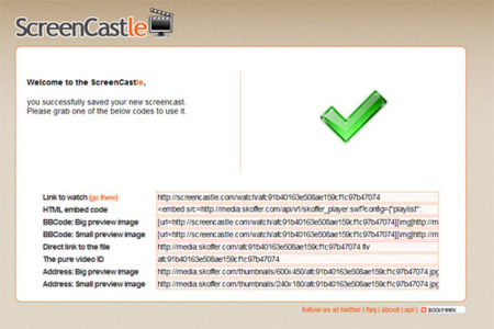 ScreenCastle, crea y aloja tus screencasts