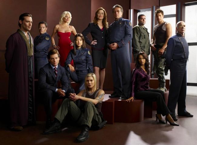 Los protagonistas de la serie Battlestar Galactica