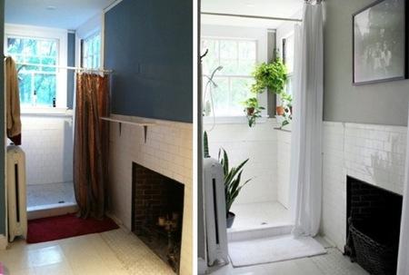 Antes y después: suavizando formas y colores en el baño