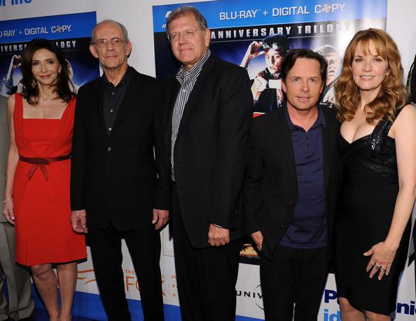 Robert Zemeckis y los actores de Regreso al Futuro en el 25 aniversario del film