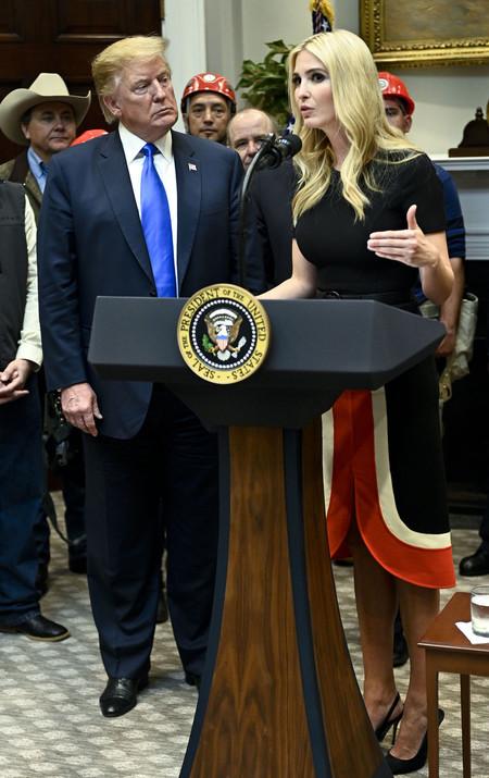 Ivanka Trump con vestido de Michael Kors
