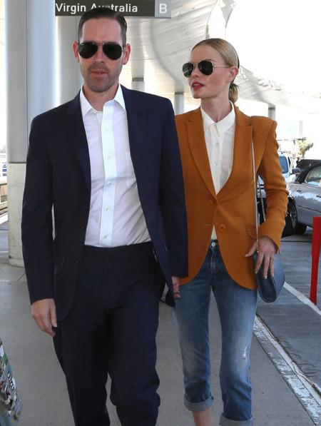 ¡Al trabajo como Kate Bosworth! Luciendo tobillo con los vaqueros de calle