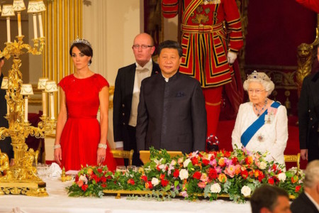 Kate Middleton vestida de Jenny Packham