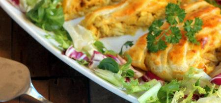 Trenza de pollo al curry. Receta para sorprender a tus invitados