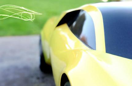 Teaser del Lamborghini Lidia, prototipo diseñado por Luis Camino