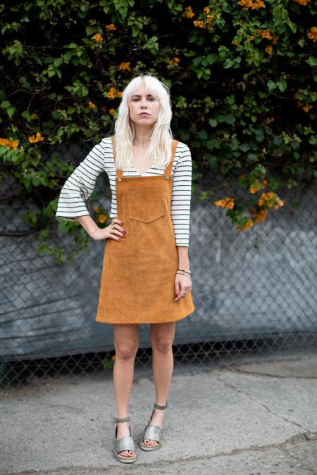 Looks Tendencia Ante Faldas Vestidos Monos 2015 Street Style 4