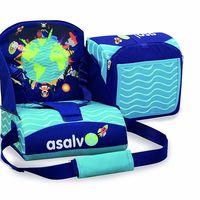 La trona de viaje Asalvo 14009 en azul está rebajada a 26,57 euros en Amazon