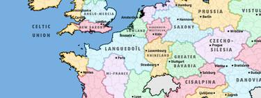 Así quedaría Europa si la dividiéramos en estados con la misma población