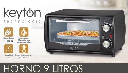 Por 19,99 euros podemos hacernos con este horno de 9 litros de capacidad de la marca Keyton. Envío gratis con eBay