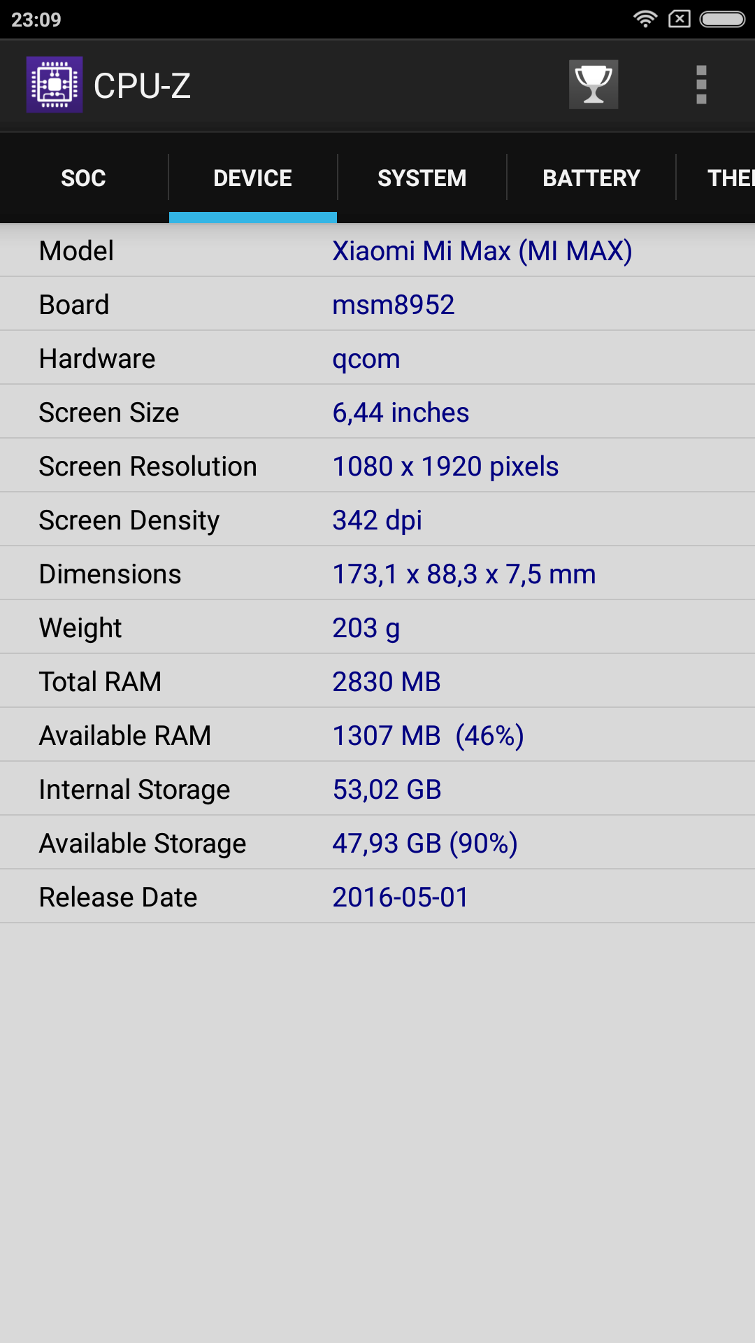 Foto de Xiaomi Mi Max, benchmarks (6/34)