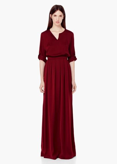 Vestido Invitada Granate
