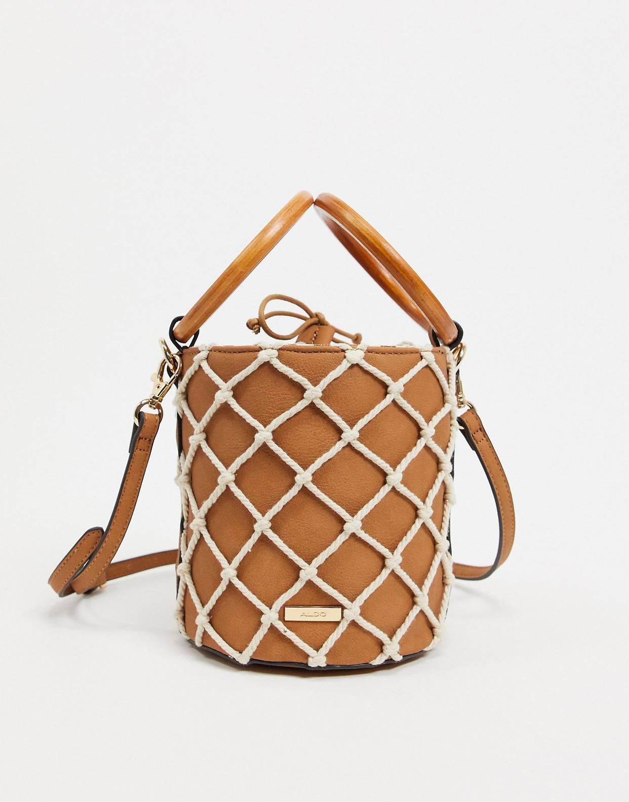 Bolso bombonera con diseño de cuerda Encased de Aldo