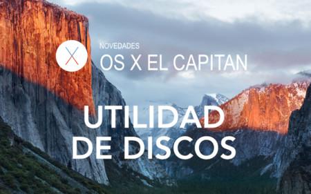 OS X El Capitan: Utilidad de discos