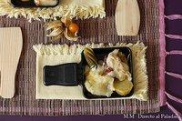 Receta de raclette de lacón con pimentón, patata asada y pepinillos picantes