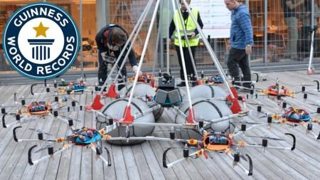 Megacopter es un enorme dron que rompió el Guinness Record al levantar una carga de 61Kg