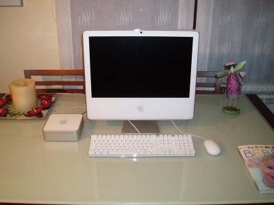 Mac mini reconvertido a disco externo