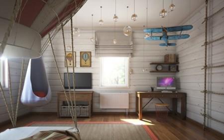 Original dormitorio infantil, con un toque vintage de altos vuelos