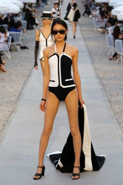 Colección Chanel Crucero 2012 body geométrico