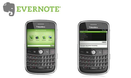 Evernote lanza una versión para BlackBerry