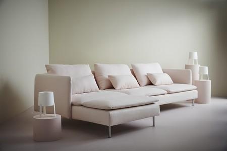 Sofá rosa IKEA