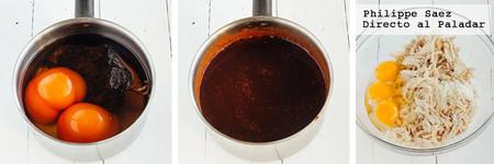 Tortitas Pollo Chile Ancho Receta
