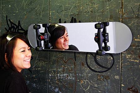 decorando con tablas de skate - espejo