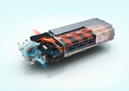 batería coches híbridos