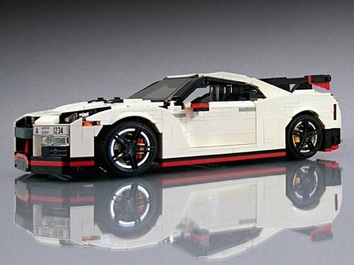 Querrás dar una vuelta en este Nissan GT-R Nismo aunque esté hecho con bloques Lego
