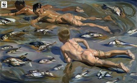 Chicos En Mar Muerto
