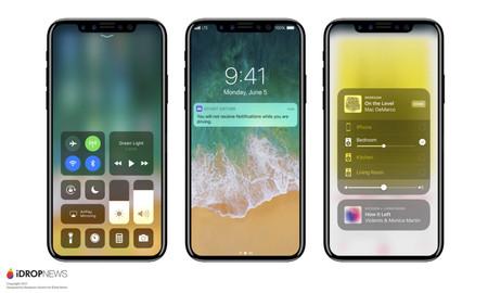 Concepto Iphone 8 Ios 11 Notificaciones