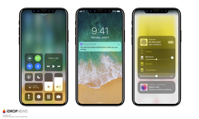 Concepto Iphone ocho Ios once Notificaciones