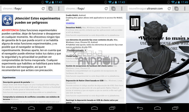 Chrome Beta para Android