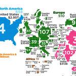 ¿Cuántos superricos tiene cada país del mundo? Este mapa lo ilustra con detalle
