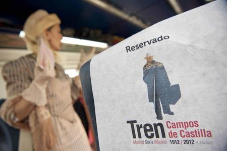 El tren turístico 'Campos de Castilla' celebra el 100 aniversario de la obra de Machado