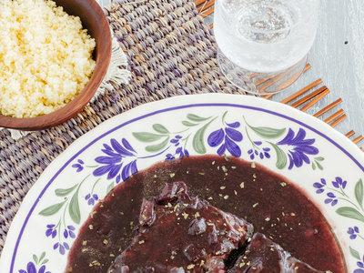 Pescado en salsa de flor de Jamaica. Receta de pescado fácil