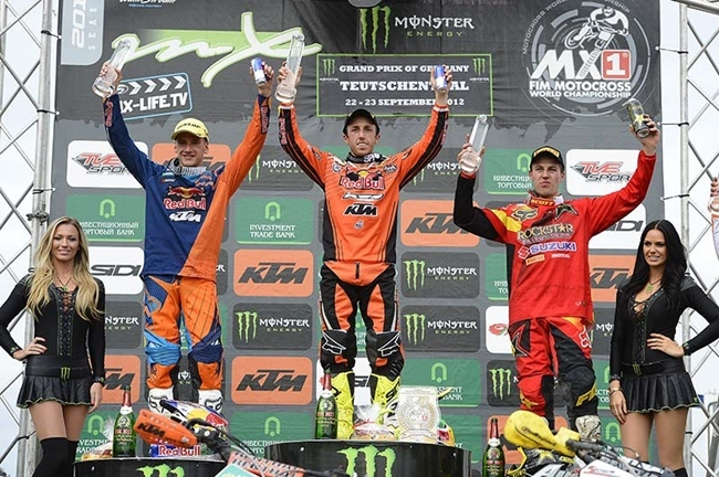Podium MX1 Alemania
