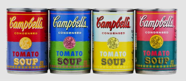 Sopa Campbell homenajea a Warhol